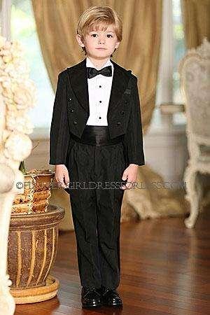 Boys suit tails tuxedo- style 4001 peak collar