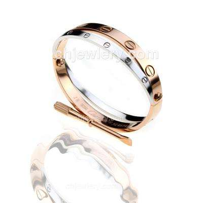 196194bfd4a9d Cartier love bracelet cartier 1:1 grade love collection bracelet in rose  gold plated