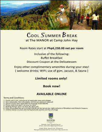 Best hotel in baguio summer treat at the manor