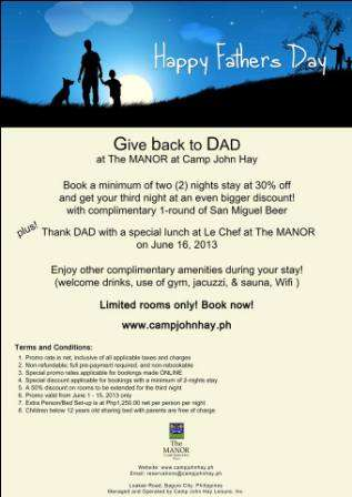 Special 0ff-rates promo at manor hotel camp john hay