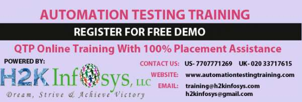 Qtp online training with 100% placement assistance
