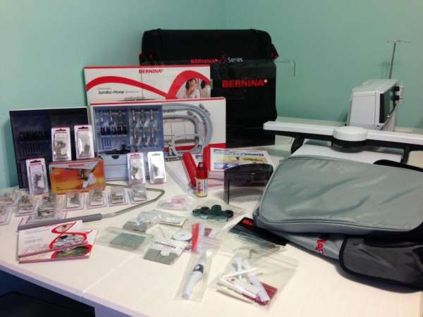 Bernina 830 sewing and embroidery machine with extras