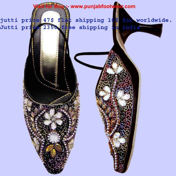 Western pencil heel slippers pr-6004 desgine