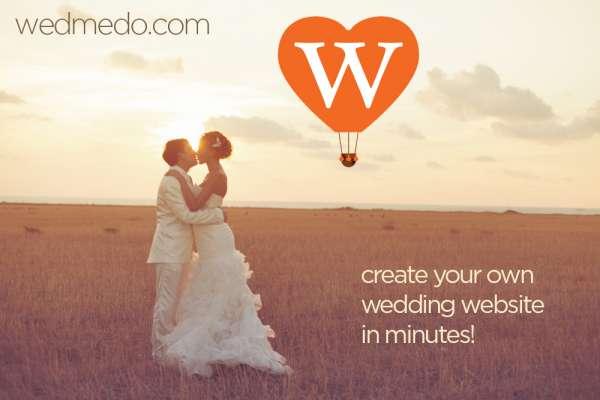 Wedding website design by wedmedo.com
