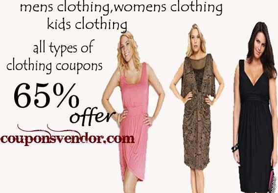 Clothing coupons - offer for you couponsvendor.com
