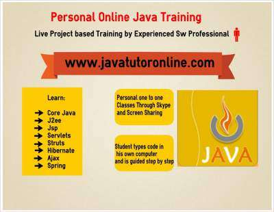 Online java tutor-private online java tuition in core java,j2ee-project training