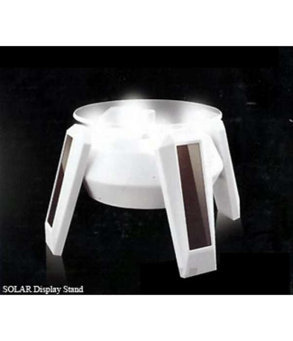 Ablagon is white solar display stand