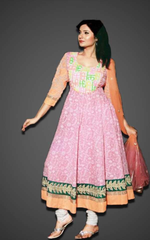 Order cotton anarkali designer dress online - fashion1world