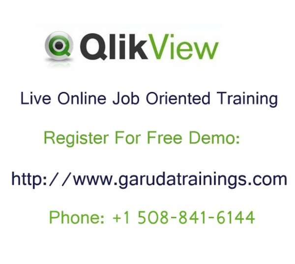 Qlikview online training with job placement