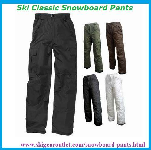 Find the best ski classic snowboard pants