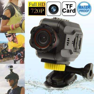 Full hd 720p waterproof mini dv sport camera, 5.0 mega cmos sensor