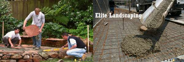 Elite landscaping-landscaping contractor -concrete contractor -driveway repaving