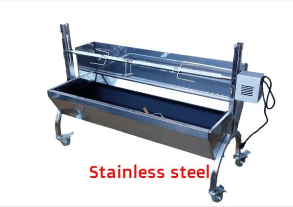 Perfect stainless steel spit roster for perfect parties