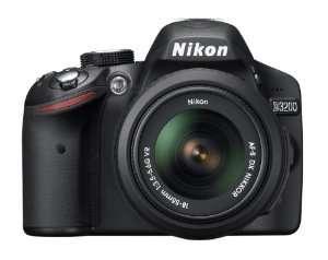Nikon d3200 24.2 mp cmos digital slr with 18-55mm f/3.5-5.6 af-s dx vr nikkor zoom lens