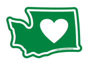 Best Heart shaped Washington Stickers and Products