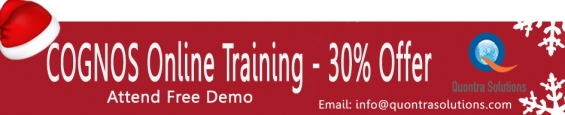 Online training on cognos by 7+ years experienced tutors- quontra solutions
