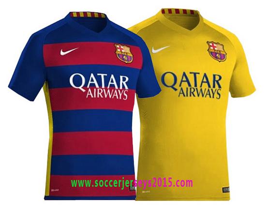 watch 1914f fcff8 New barcelona home/away kit 2015-2016