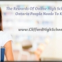 The Rewards Of Online High School Courses Ontario People Needs To Know Of