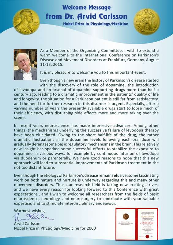 International conference on parkinson's disease and movement disorder 2015