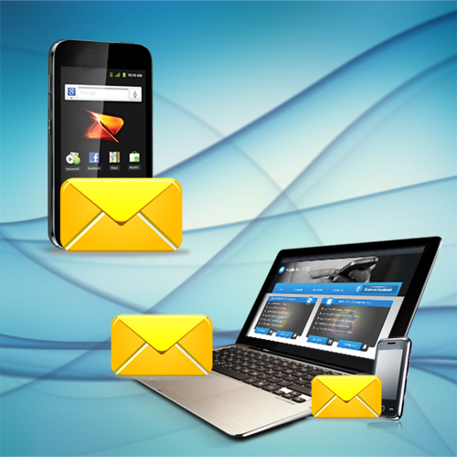 Delivers sms from pc to global mobile network via android mobile