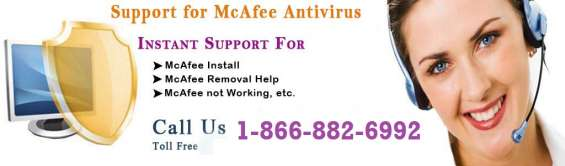 Mcafee antivirus 1-866-882-6992 toll free number 24x7 in service