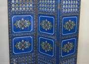 Moroccan wood room divider