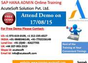 Sap hana admin online training by real-time 10+ years (exp) it trainers