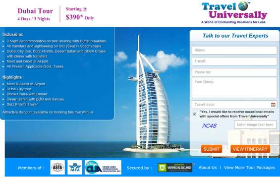Book dubai tour package @ $390 with travel universally or talk to our travel expert