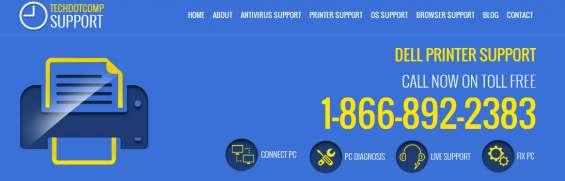 Usa toll free 1-866-892-2383 dell printer support
