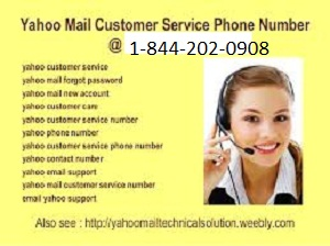 Yahoo customer service number 1-844-202-0908