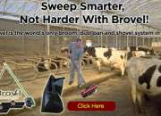 The brovel is the world's only broom, dust pan and shovel system in one!