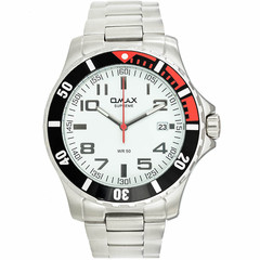 The brandon solid stainless steel watch impresses with its bold steel silver case and minimalist face. the black accents give this piece just the right amount of fashion and class combined.   case and band material: 18/8 solid stainless steel case plating