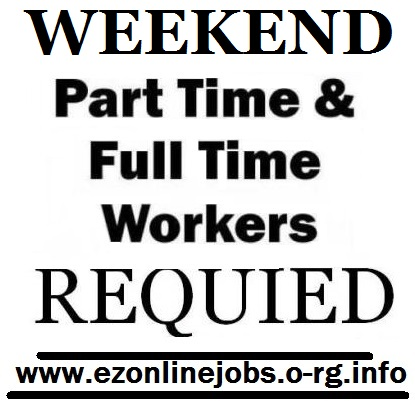 Week-end part time openings, pay $30/hour.
