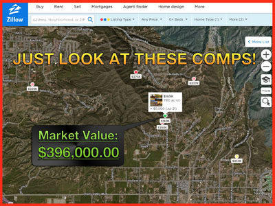 57% off raw land in the hills of california -- 7.8 acres