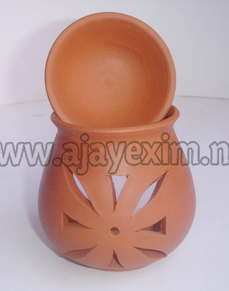 Clay aromatherapy tealight oil diffuser