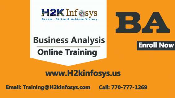 Become a business analyst with training provided by h2k infosys llc, usa