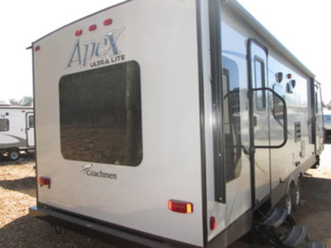 Perfect for smaller tow vehicles. pack up, back up, hitch up and go. apex ultra lites are perfect for towing with half ton trucks, minivans and suvs for fuel efficiency. all apex floor plans are designed with rich, warm interiors, contemporary cabinetry,