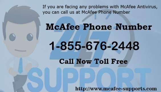 Mcafee phone number 1-855-676-2448