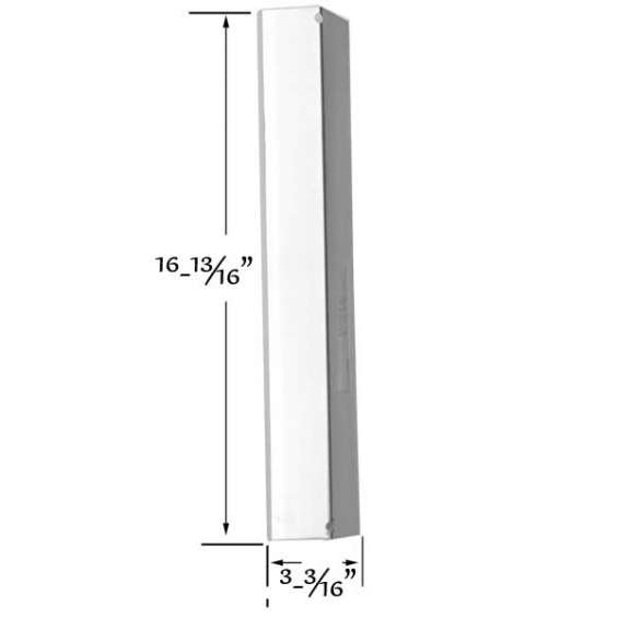 Find stainless heat shield for shinerich, brinkmann gas models