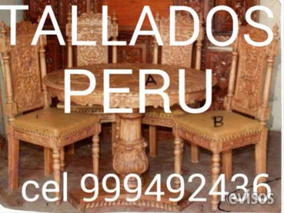 Tallador ebanista carpinteria en madera colonial peruano