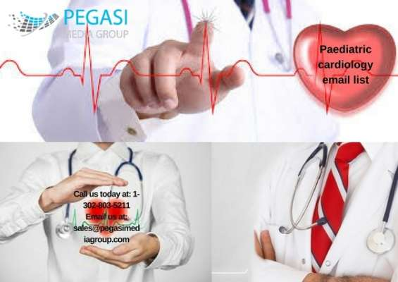 Paediatric cardiology email list & mailing list in usa/uk/canada