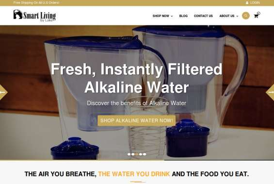 Alkaline water pitcher smart living