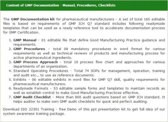 Gmp documentation kit - free download