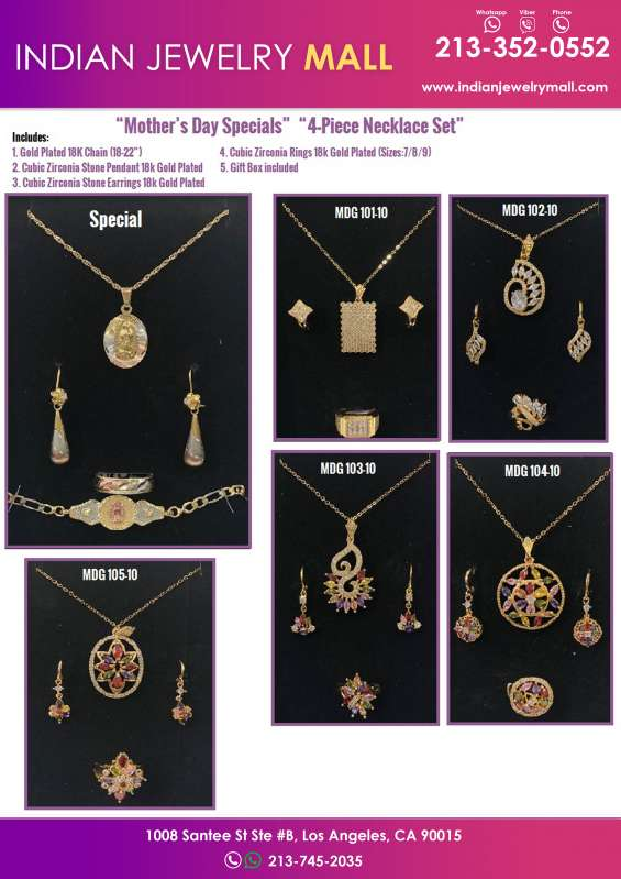 Mother's day special 4-piece necklace set