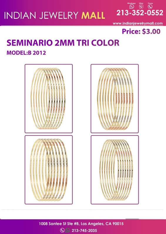 Seminario tri color bangle