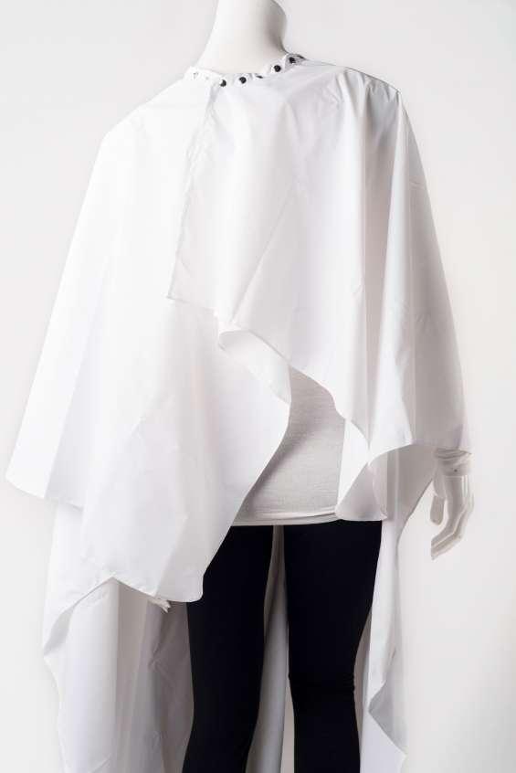 White waterproof cape