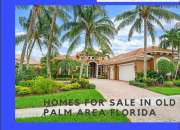 Homes For Sale In Old Palm Area Florida Usa