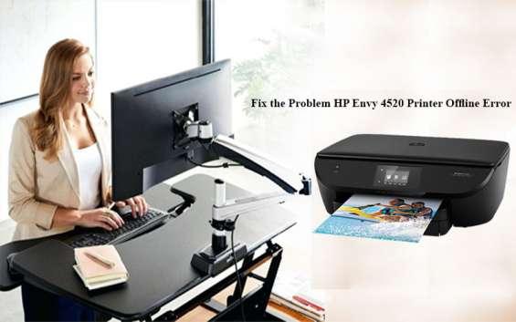 Fix the problem hp envy 4520 printer offline error