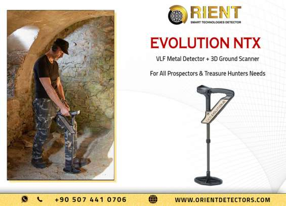 Evolution ntx ground scanner & metal detector in one device