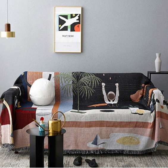 Surrealism space tapestry (throw blanket)